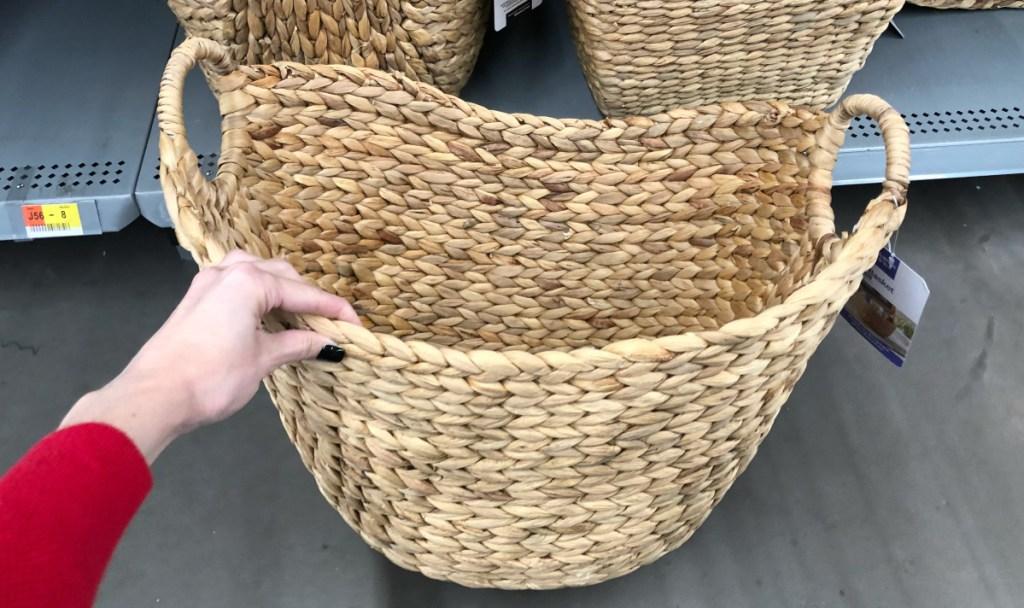 Better Homes & Gardens Large Natural Water Hyacinth Boat Basket