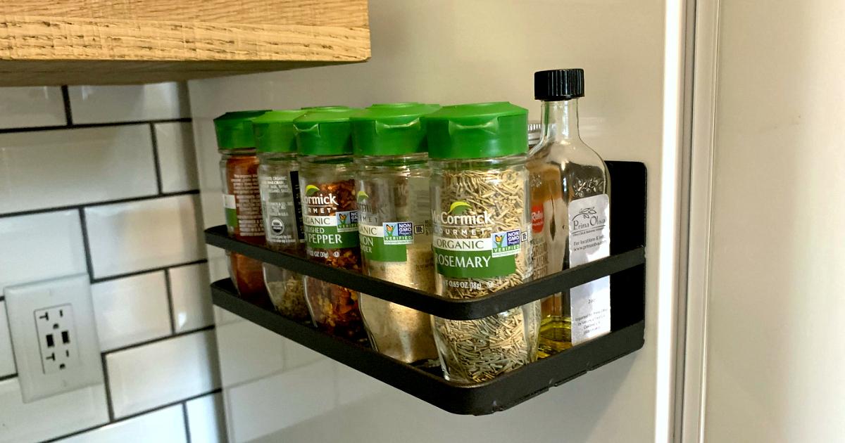 magnetic spice rack fridge organizer