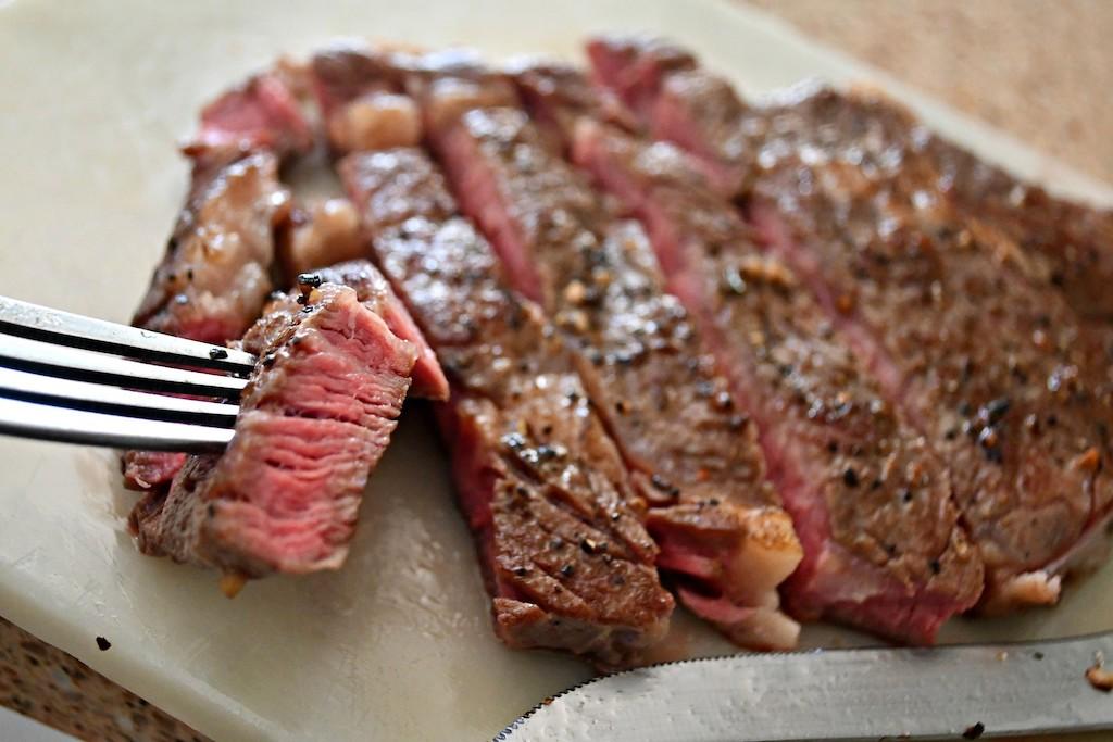 sliced grilled steak