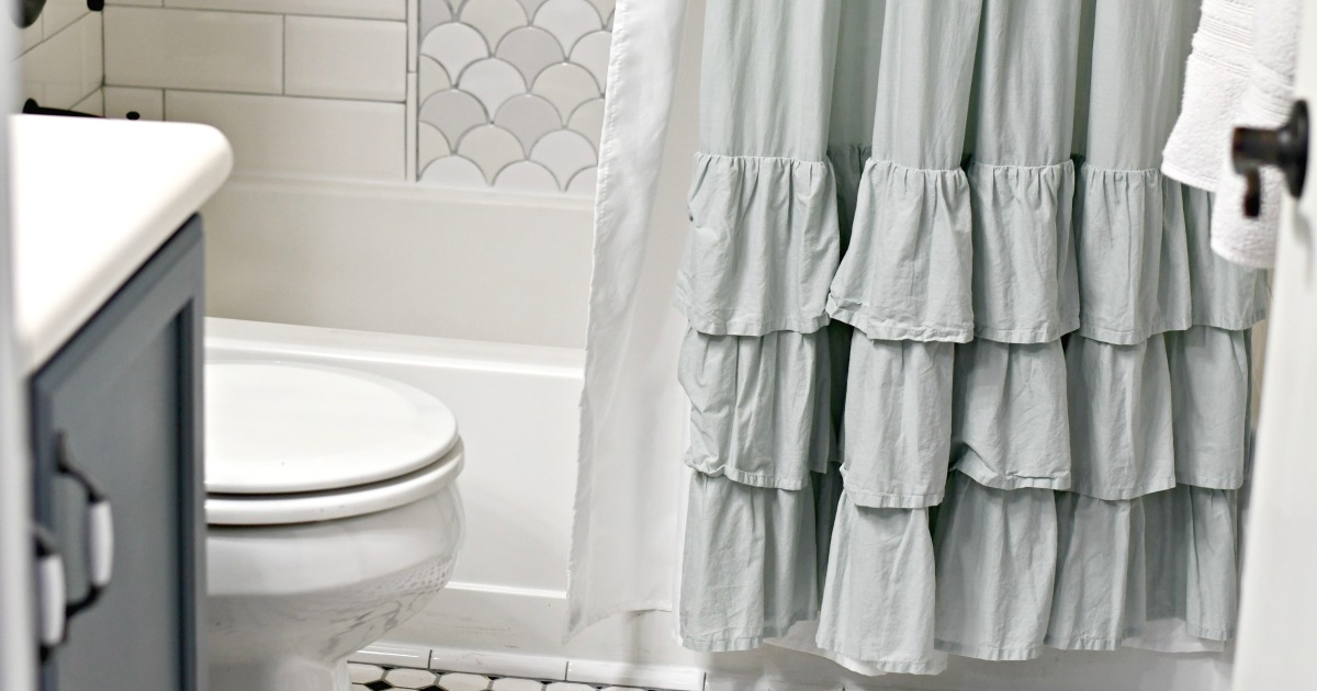 clean your shower curtain and liner