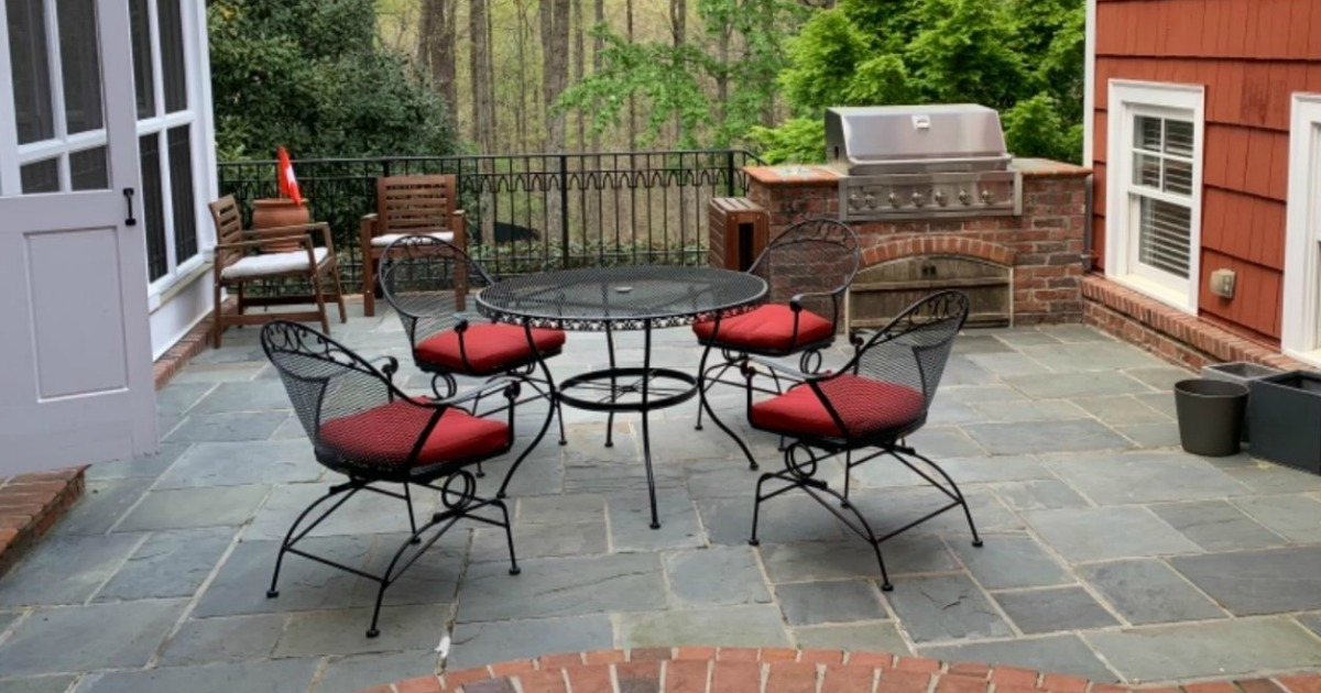gardens wrought iron patio set
