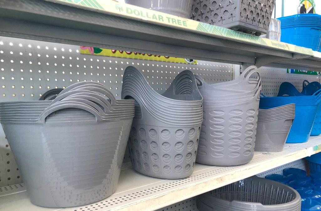 gray Dollar Tree bins