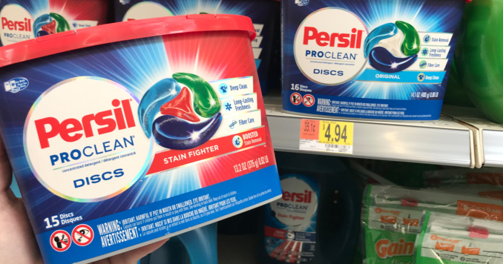 persil laundry detergent container