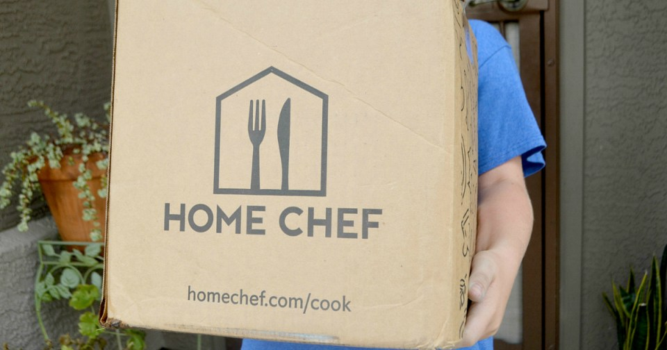 Huge low-carb Home Chef meal kit box holding a great deal of food