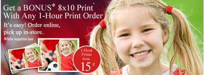 Walmart Photo: FREE 8x10 with a $0 15 1-Hour Print Order
