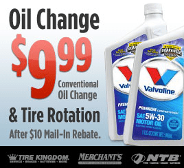 Ntb Oil Change And Tire Rotation Only 9 99 After Mail In Rebate
