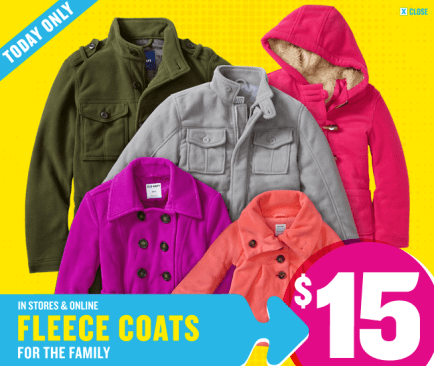 Heads Up For All You Old Navy Shoppers The Awesome 15 Fleece Coat Sale I Mentioned Earlier Is Actually Available To Score Online Now