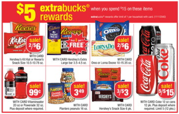 dcb082059b6 Spend $15 on select Coke, Planters, Nabisco or other items = $5 Ecb (limit 1)  Deal Scenario #1: Buy 4 packages of Oreo Cookies 2/$6