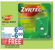 zyrtec 24 hour tablets 5 ct 6 use the 61 zyrtec product coupon found in the 428 ss or here no longer available final cost free