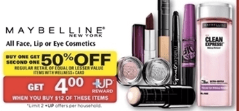 7bf68d74cc2 Use the $2/1 Maybelline New York Mascara coupon found in the 10/6 RP Or use  the $1/1 Maybelline New York Face Product coupon found in ...