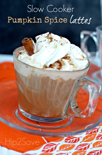Slow Cooker Pumpkin Spice Lattes Hip2Save
