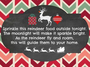 Free Reindeer Food Poem Printable Hip2Save