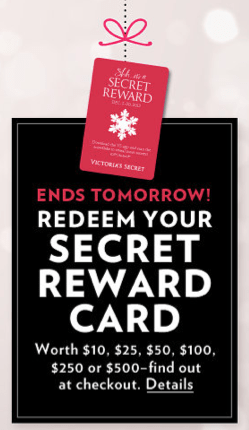 bed1571c55ce Just a reminder that Victoria's Secret stores are still offering up all  panties on sale for 50% off – in-store only! Also, if you still have a  Victoria's ...