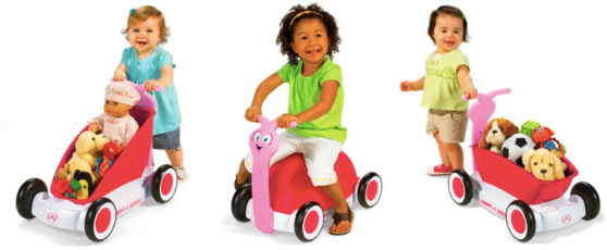 Amazon Pink Radio Flyer 3 In 1 Walker Wagon Only 29 69 Regularly