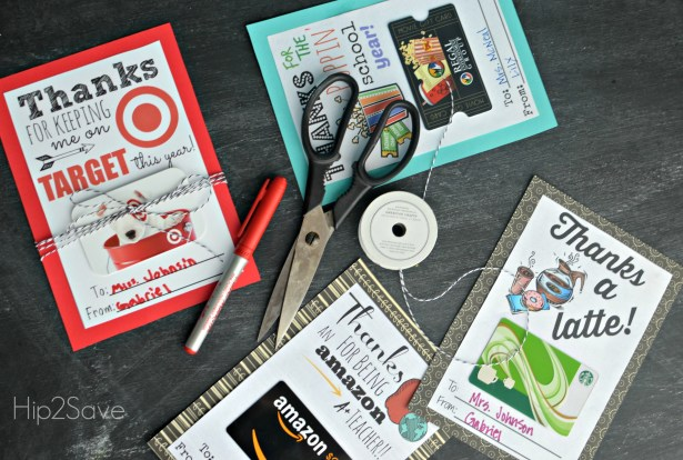 free printable gift card holders for teacher gifts hip2save