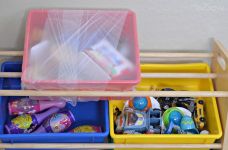 Plastic Wrap Toy Bins for Packing Hip2Save