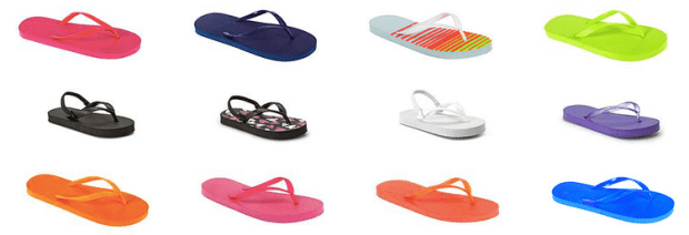 e1811afff9fa35 Kmart.com  Flip Flops Only 50¢ each + Free In-Store Pick Up - Hip2Save