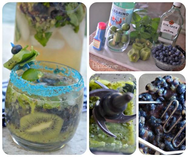 How to make blueberry kiwi mojitos Hip2Save