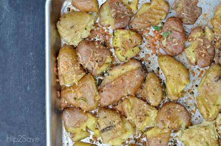 Parmesan Rosemary Smashed Potatoes Hip2Save