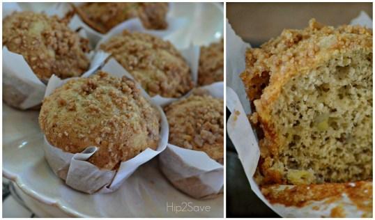 Easy Basic Banana Crumb Muffins