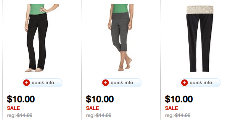 6963ef7466af7 Or, if you'd rather shop from the comfort of your home, these Mossimo  Supply Co Yoga Pants are also $10 each on Target.com. And remember – if  you're a ...