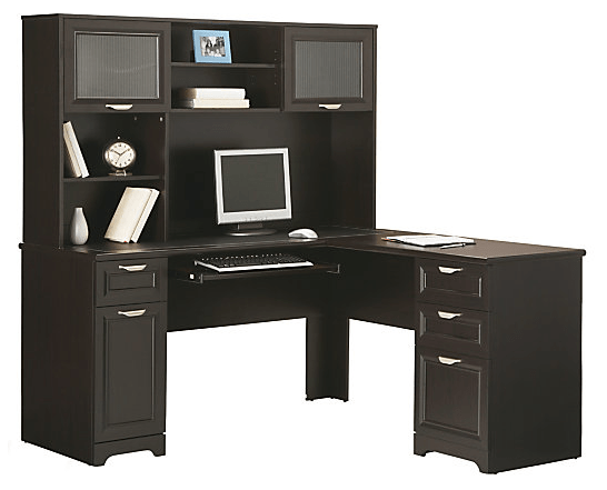 Office depot l shaped desk Bush Need New Desk Hop On Over To Officedepot Officemaxcom Where Youll Find The Realspace Magellan Collection Lshaped Desk available In Espresso Hip2save Officedepot Officemaxcom Great Deals On Realspace Magellan