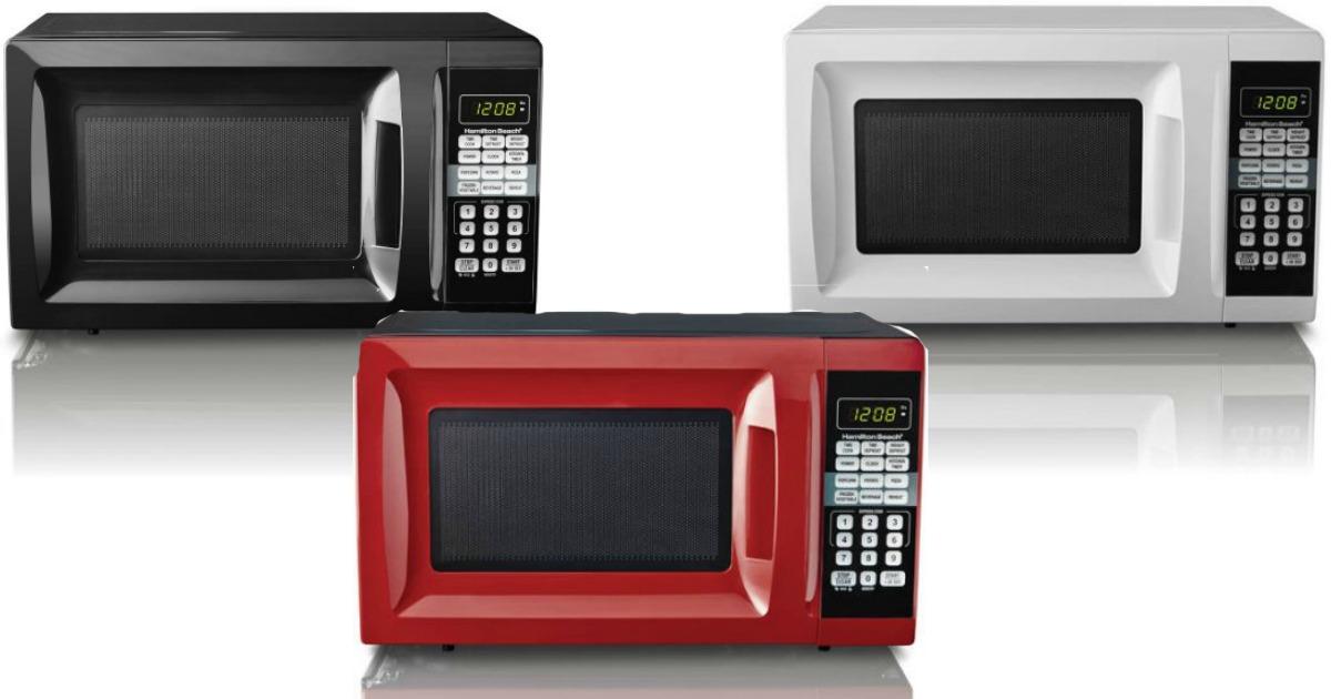 walmart hamilton beach microwave oven