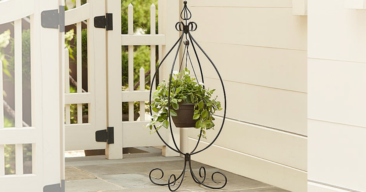 Kmart: Essential Garden Hanging Basket Plant Stand Only $8 ... on Hanging Plant Stand  id=36801