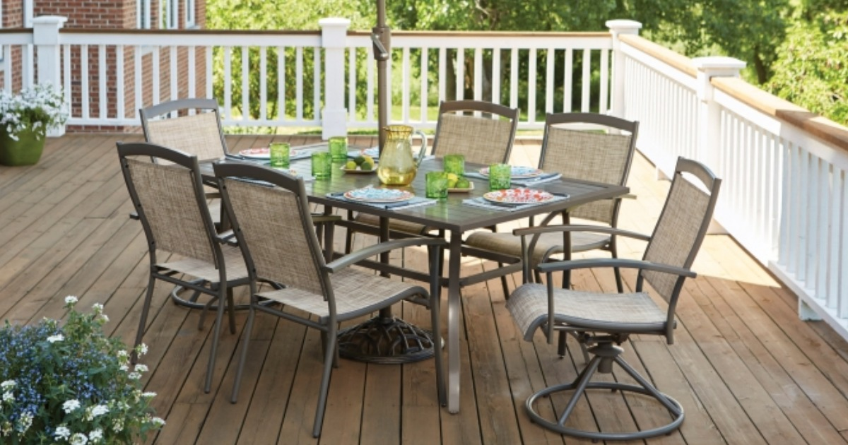 living accents 7 piece outdoor dining