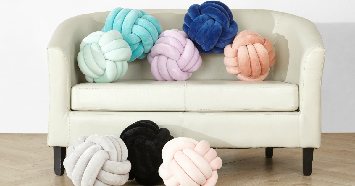 mainstays infinity knot pillow
