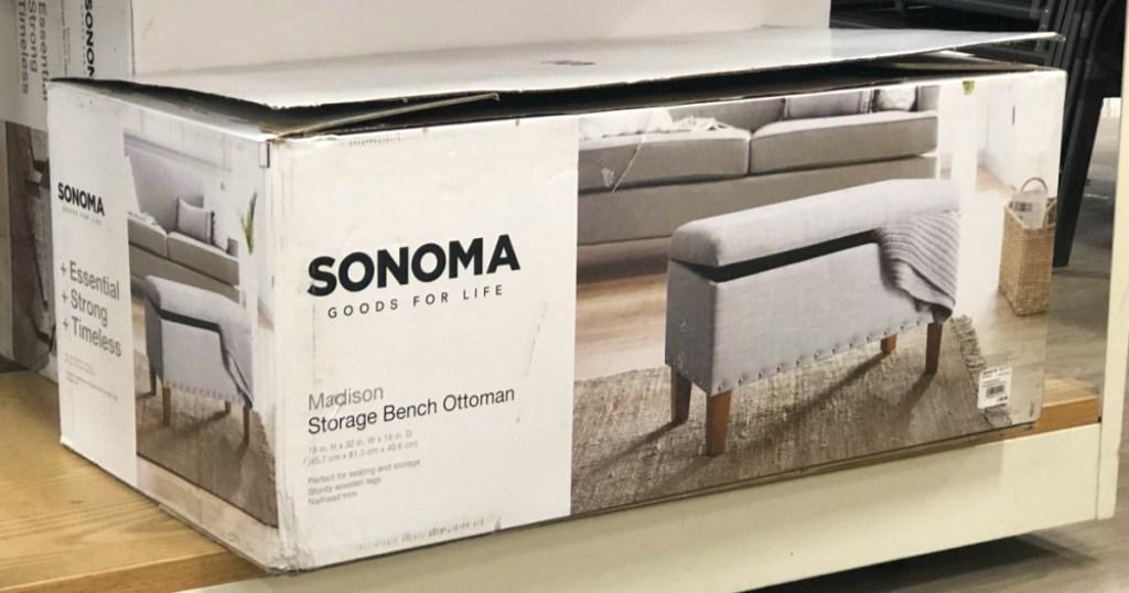 sonoma goods for life storage ottoman