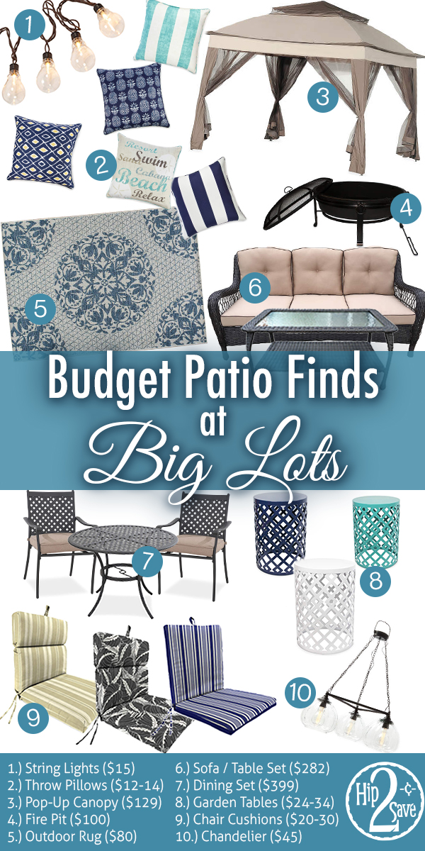 refresh your patio with these big lots