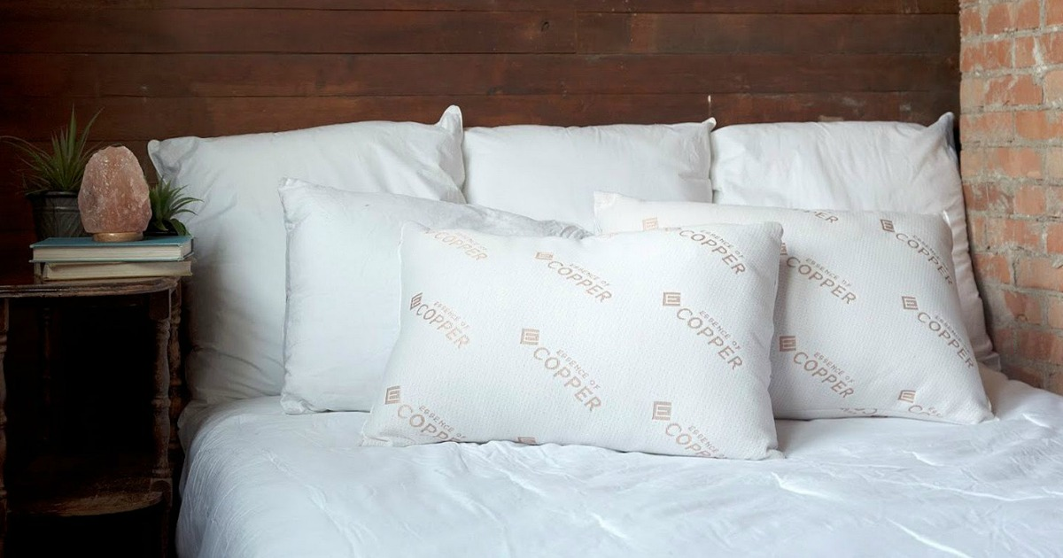 bamboo or copper infused pillows 2 pack