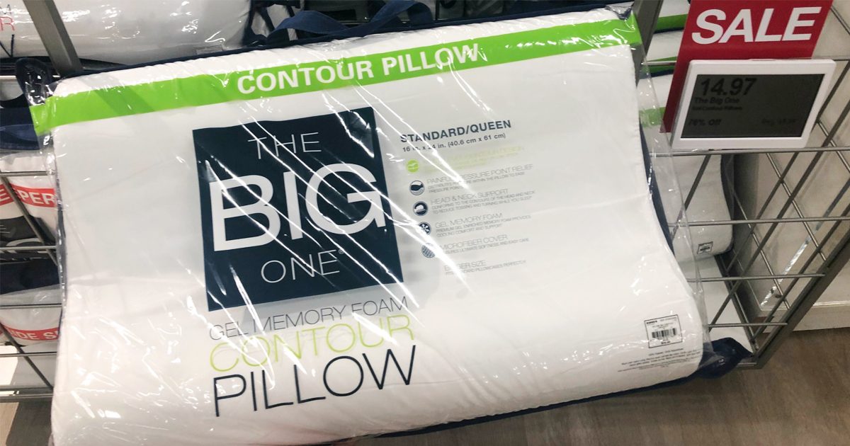 the big one memory foam contour pillows