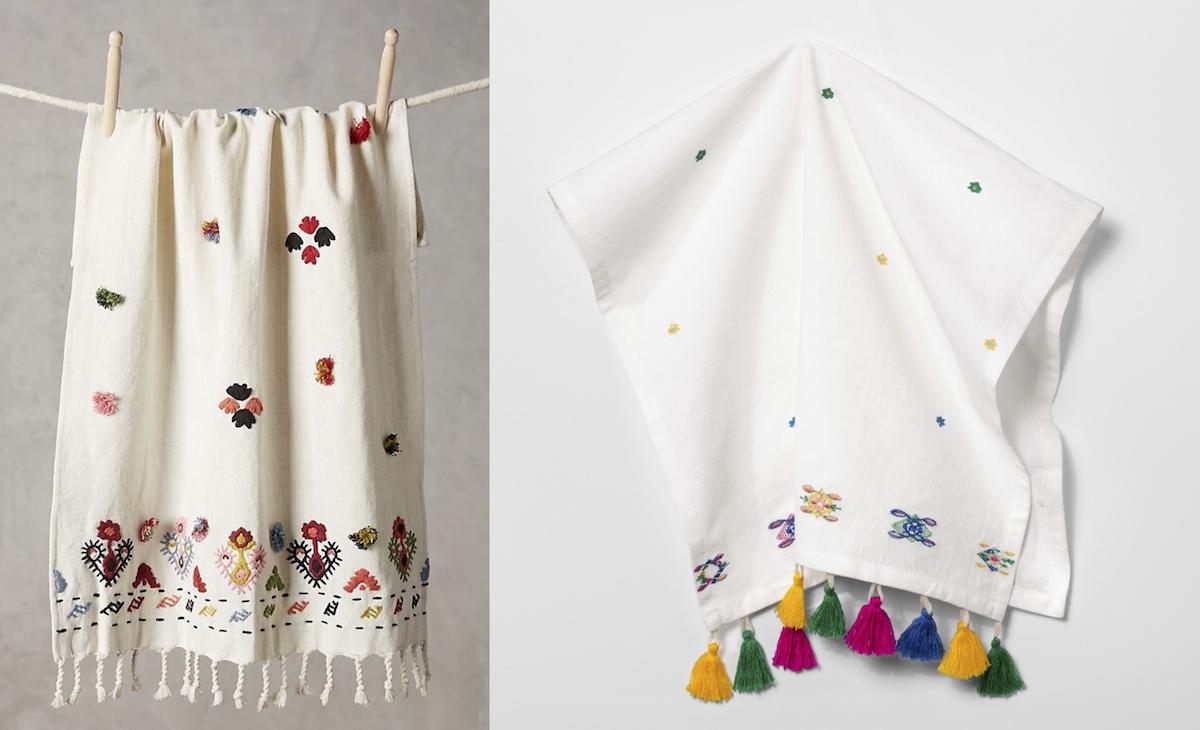 anthropologie copycat target walmart finds – anthropologie and target kitchen dish towels
