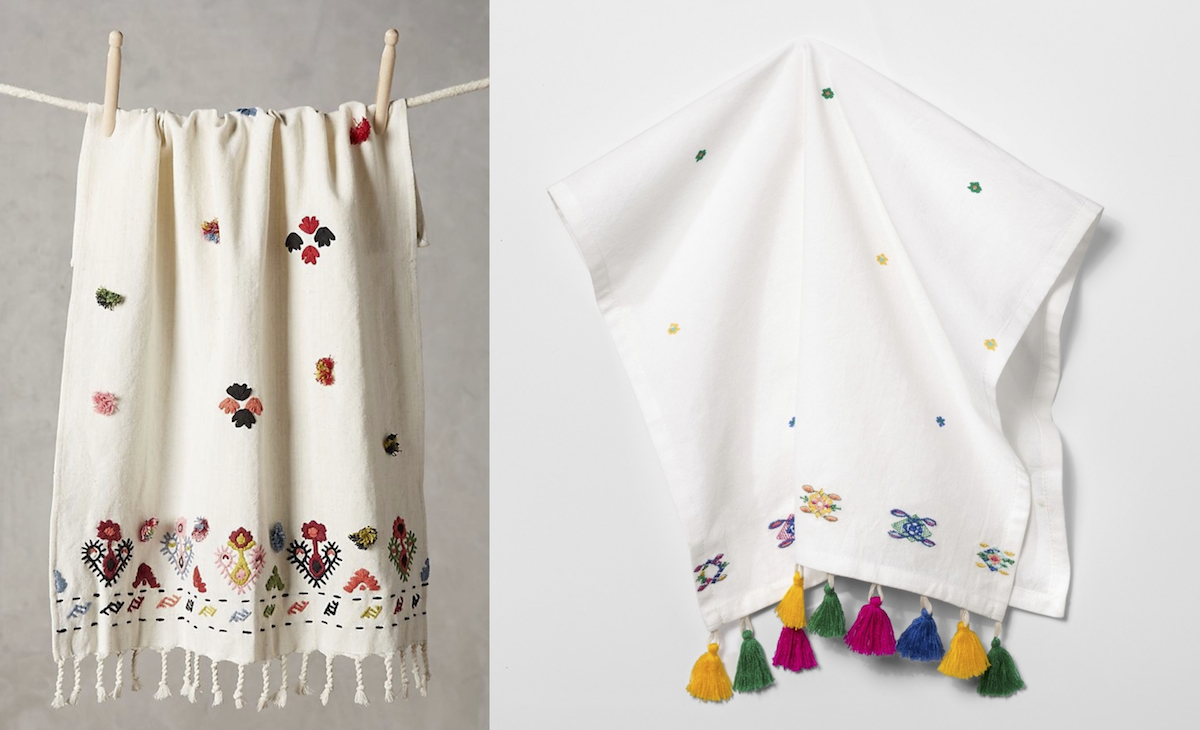 anthropologie copycat target walmart finds – anthropologie and target kitchen dish towels