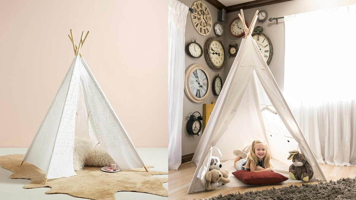 walmart and anthropologie teepee play tent