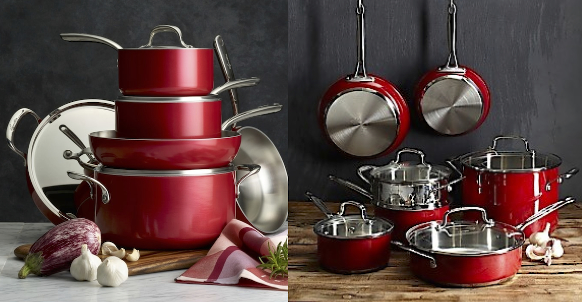 williams sonoma home copycat budget – red cookware set pots and pans comparisons side by side