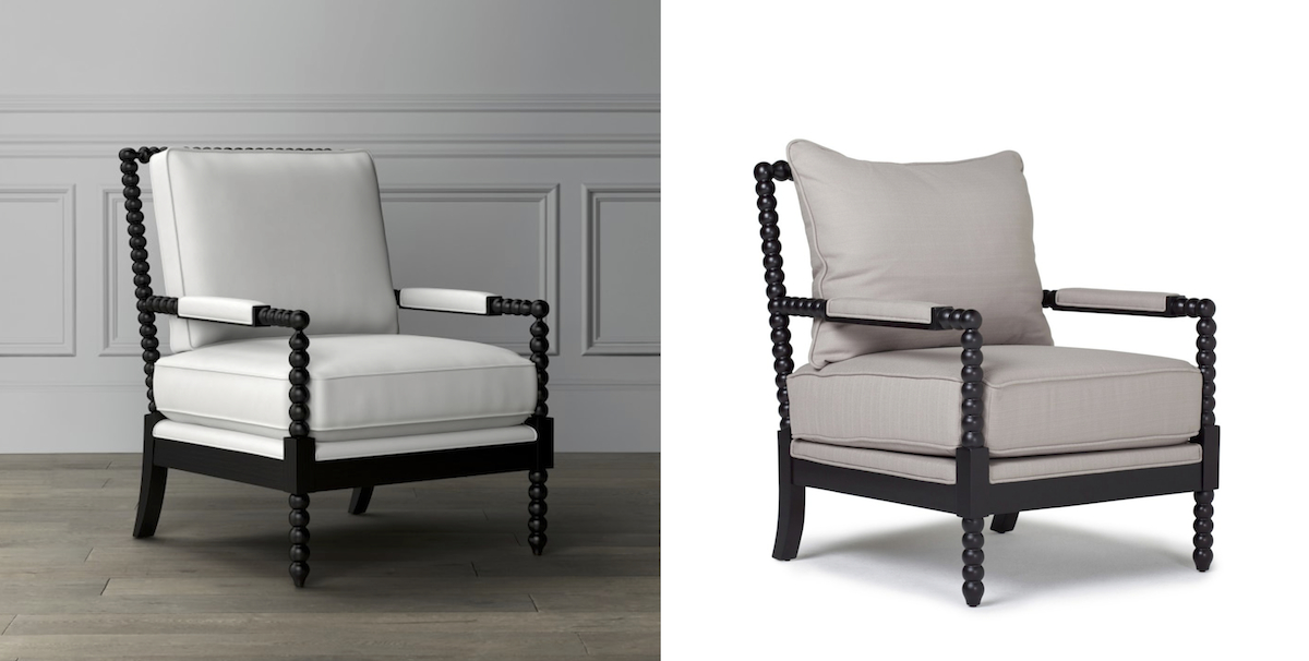 williams sonoma home copycat budget – spindle chair furniture comparisons side by side