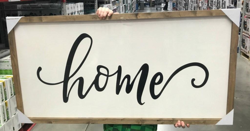 Farmhouse home sign