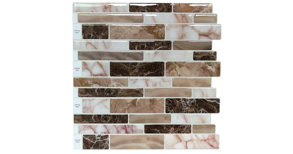 stick kitchen backsplash tile at walmart