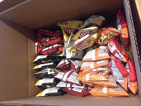 box of frito-lay chips