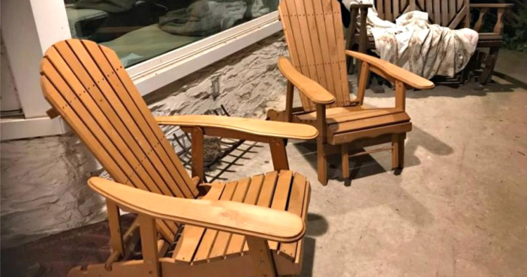 reclining adirondack chair w pull out