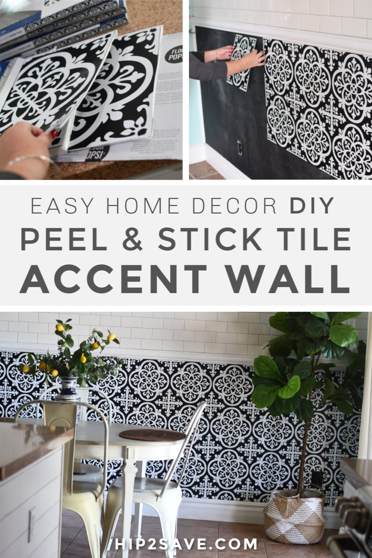 we installed peel stick tile for 50