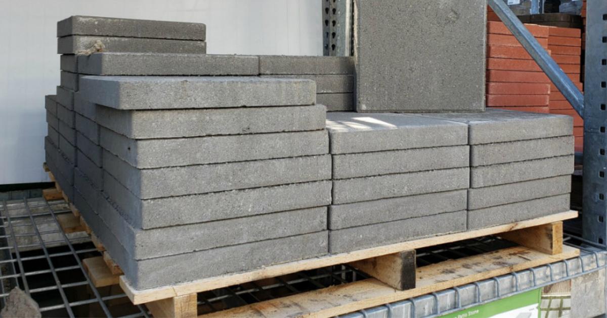 concrete square patio stones just 1 on