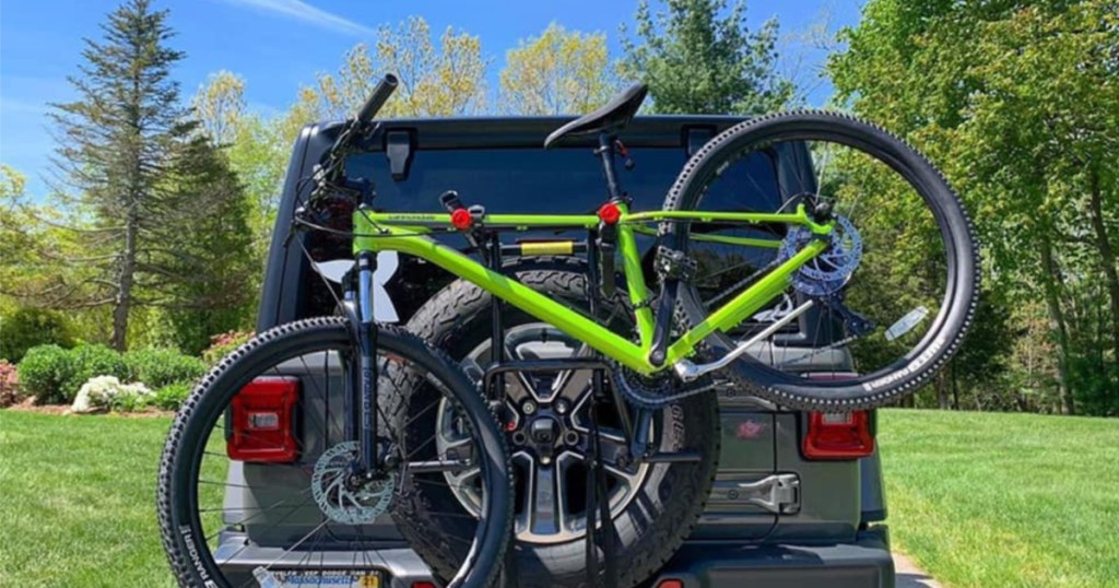 bike spare tire mounted rack