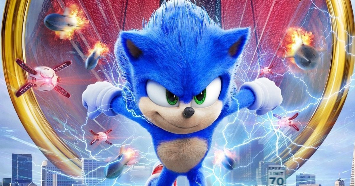 sonic the hedgehog clip from movie with electric behind him