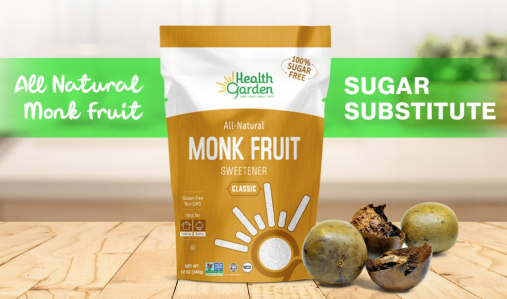 health garden monk fruit sweetener on table