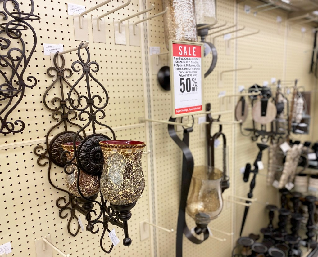 50% Off Candles, Wax Melts & Accessories at Hobby Lobby ... on Wall Sconces Hobby Lobby id=86699