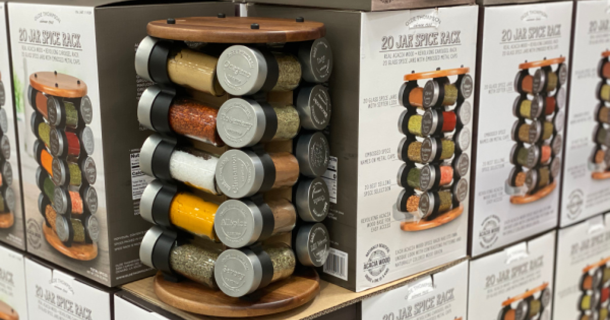 20 jar spice rack only 26 99 at costco